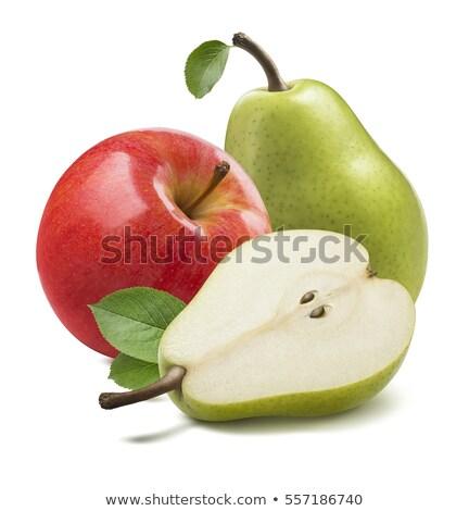 リンゴ 梨 孤立した フルーツ トマト 巻き尺 ストックフォト © smitea