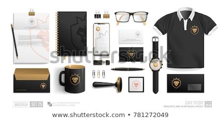 Blank Corporate Business Card and Notebook for Branding Stock photo © stevanovicigor