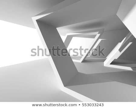 3D футуристический коридор зале современных 3d визуализации Сток-фото © wxin