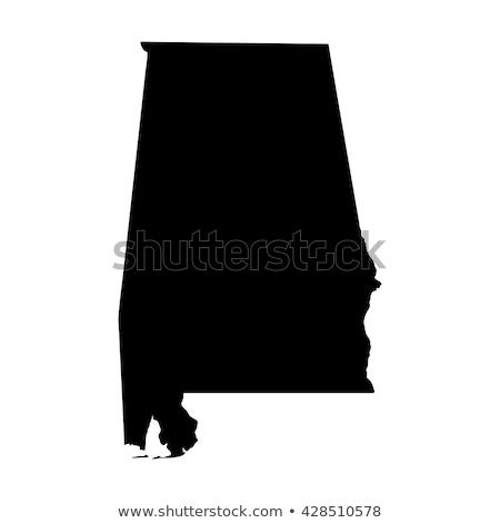 kaart · Alabama · Verenigde · Staten · abstract · achtergrond · communicatie - stockfoto © rbiedermann