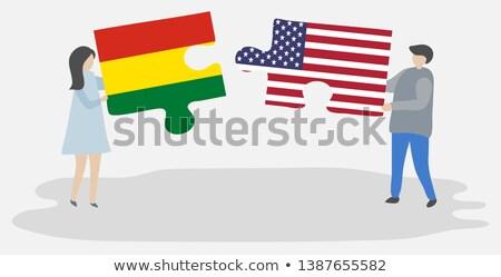 США Боливия флагами головоломки вектора изображение Сток-фото © Istanbul2009
