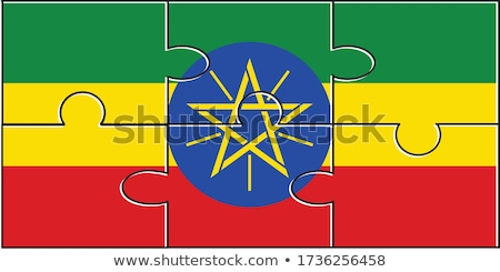 European Union and Ethiopia Flags in puzzle Stock photo © Istanbul2009