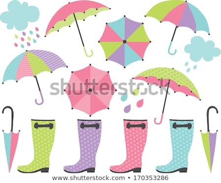 umbrella with footwear Stock photo © get4net
