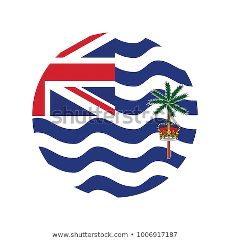 Frame with flag of british indian ocean territory Stock photo © MikhailMishchenko
