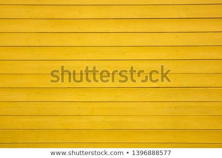 Amarillo vintage capeado puerta Foto stock © H2O