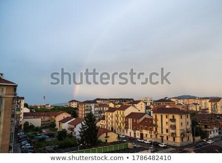 небольшой Церкви Италия красный кирпичных Сток-фото © rglinsky77