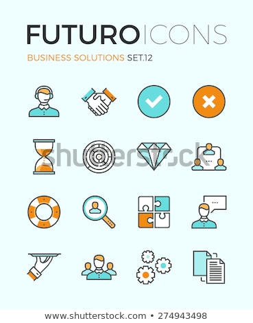 Search for Partners Icon. Business Concept. Flat Design. Stock photo © WaD