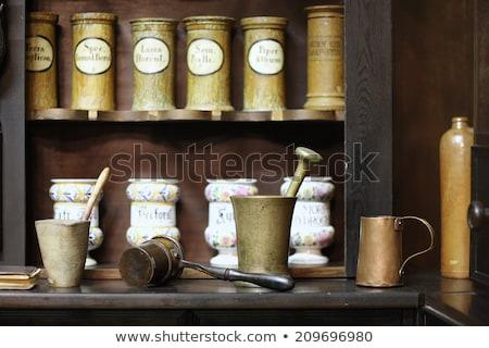 インテリア 古代 薬局 家具 薬 デザイン ストックフォト © OleksandrO