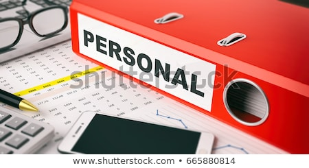 red ring binder with inscription privacy stock photo © tashatuvango