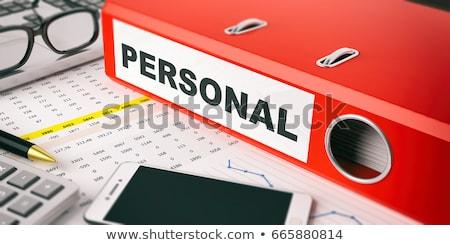 Piros gyűrű felirat magánélet dolgozik asztal Stock fotó © tashatuvango