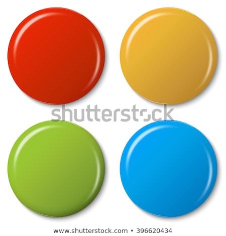 Magnete verde vettore icona pulsante internet Foto d'archivio © rizwanali3d