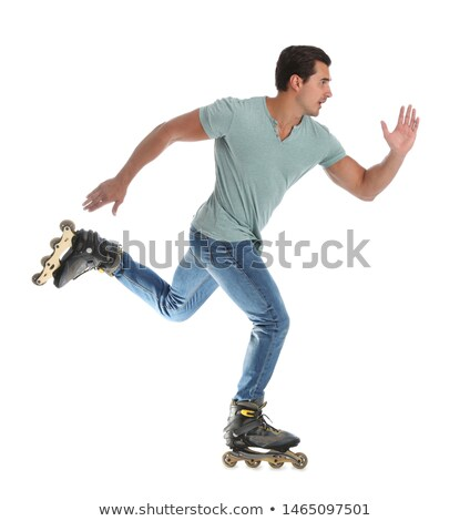 Inline rollerskates isolated Stock photo © Supertrooper