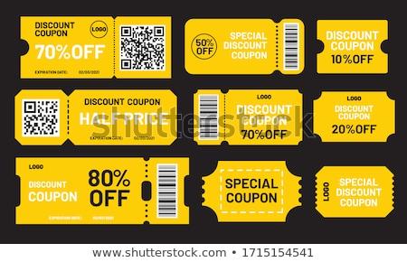 Free Coupon Yellow Vector Icon Design Stock photo © rizwanali3d