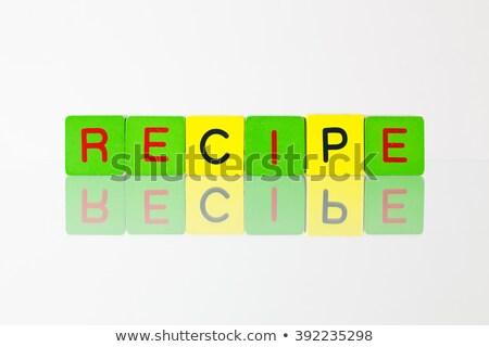レシピ 碑文 ブロック にログイン 手紙 ストックフォト © CaptureLight