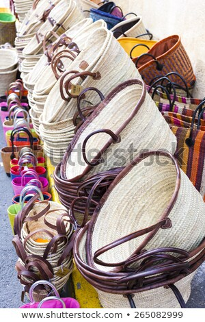 bags, market in Forcalquier, Provence, France Stock photo © phbcz