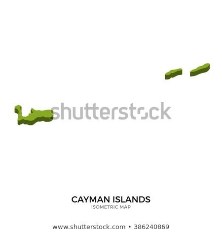 Isometric map of Cayman Islands detailed vector illustration Stock photo © tkacchuk
