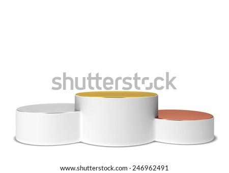 Boş altın gümüş bronz podyum üç Stok fotoğraf © pakete