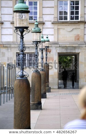 Lamppost in Rigsdagsgarden, Christiansborg palace, Slotsholmen i Stock photo © vladacanon