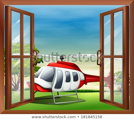 An open window with a view of the chopper Stock photo © bluering