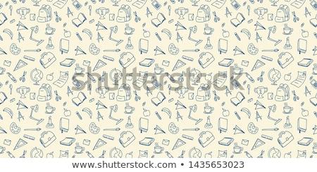 földrajz · iskolatábla · terv · tábla · színes · illusztráció - stock fotó © pakete