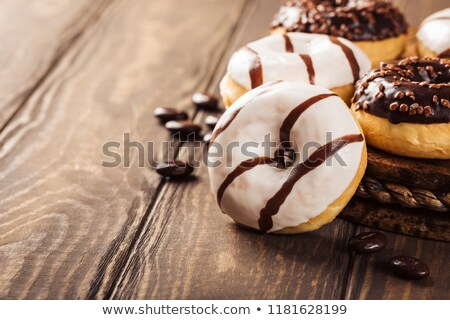 decorated mini doughnut cakes stock photo © frannyanne
