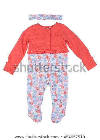 Orange rompers with rabbit pattern. Stock photo © RuslanOmega