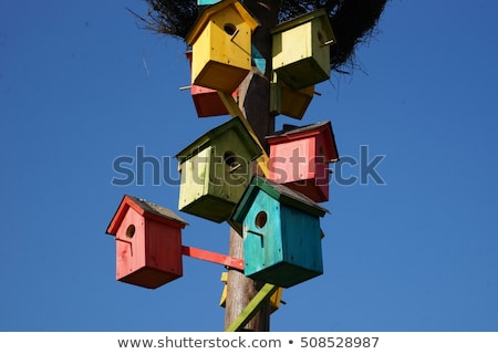Birdhouse with Blue Sky Stock photo © brianguest