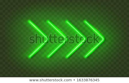 Green neon arrow Stock photo © orson