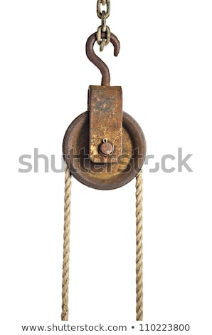 pulley with old rope stock photo © hofmeester