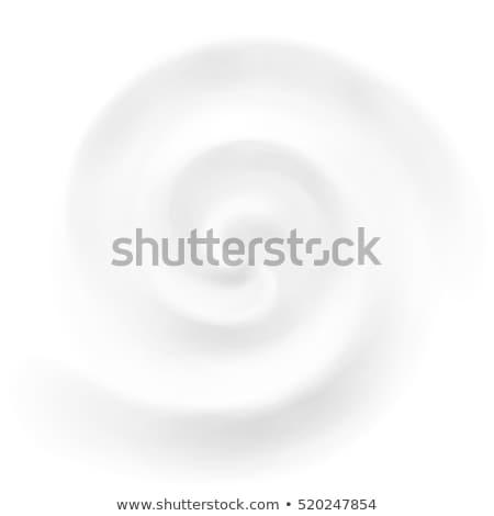 White Milk, Yogurt, Cosmetics Product Swirl Cream Illustration. Mousse Whirlpool And Vortex. Swirl C Stock photo © pikepicture