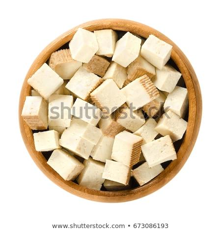soia · carne · cucchiaio · bianco · legno - foto d'archivio © Digifoodstock