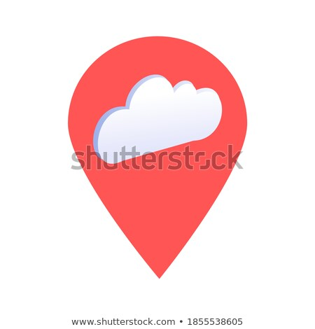 Foto stock: Nublado · nuvens · céu · ilustração · 3d · azul · seta