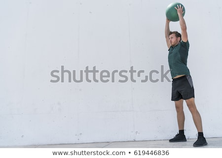 man with medicine ball Stock photo © IS2