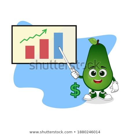 verde · seta · para · cima · diagrama · branco - foto stock © rastudio