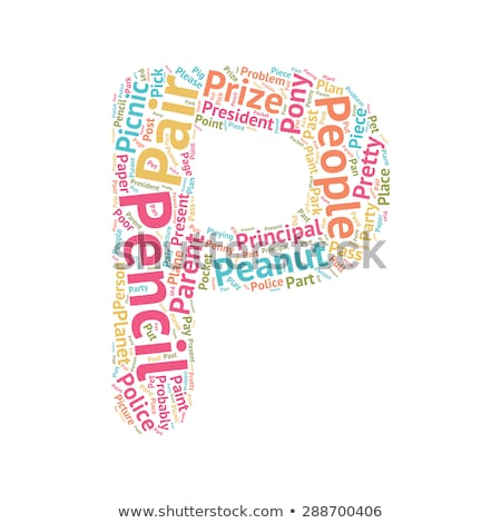 Words starting with P on white background Stock photo © bluering