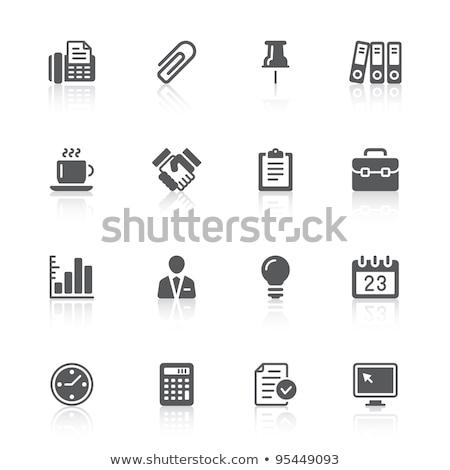 Sprawozdanie teczki działalności biurko formalności nikt Zdjęcia stock © IS2