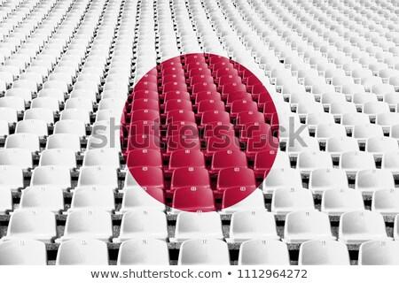 Székek zászló Oroszország Japán csetepaté 3d illusztráció Stock fotó © MikhailMishchenko