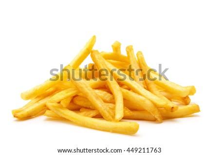 жареный картофель фри фон обеда белый чипа Сток-фото © M-studio