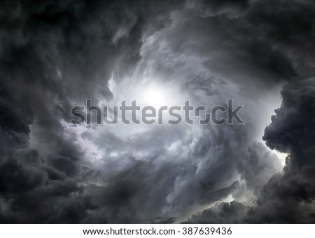 Dramático nuvens céu tempestuoso tempo dia Foto stock © lunamarina