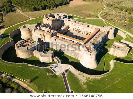 Erőd Franciaország öreg déli építészet Európa Stock fotó © LianeM