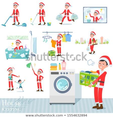 Сток-фото: Дед · Мороз · костюм · набор · различный · торговых · кухне