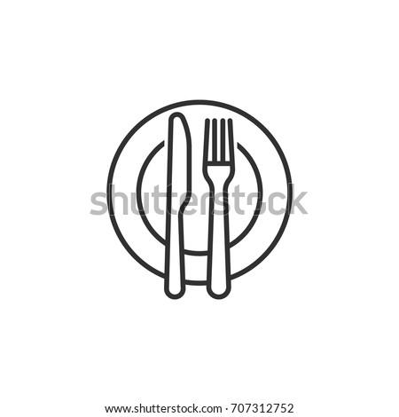 Garfo faca placas tabela dois Foto stock © pakete