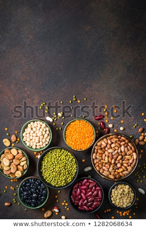 various nuts on stone table top view flat lay stock photo © valeriy