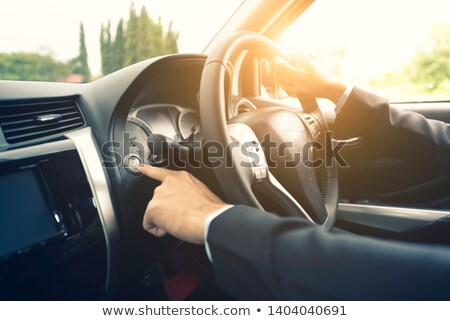 Photo stock: Voiture · pilote · moteur · peu · profond · rue