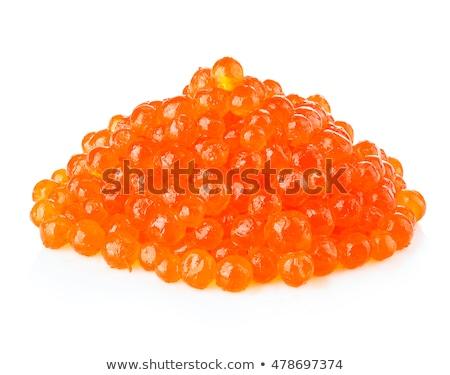 Piles of salmon red caviar Stock photo © maxsol7