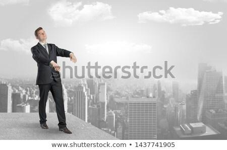 álmos üzletember felső város elegáns szemek Stock fotó © ra2studio