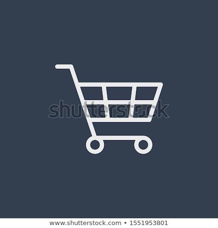 Vector winkelwagen icon zwarte app knop Stockfoto © kyryloff