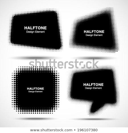 black curved halftone square vector abstract icon Stock photo © blaskorizov
