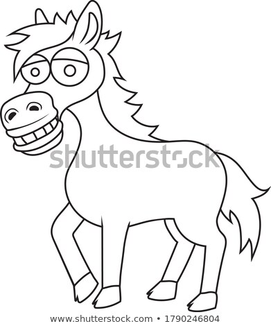 Doodles drafting animal for horse Stock photo © colematt