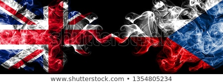 Two waving flags of UK and czech republic Stock photo © MikhailMishchenko